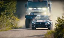 VW Polo R WRC vs, KAMAZ truck / Bild: youtube