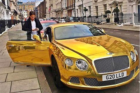 Ein Bentley aus Gold - (c) Instragram / Bild: Instragram